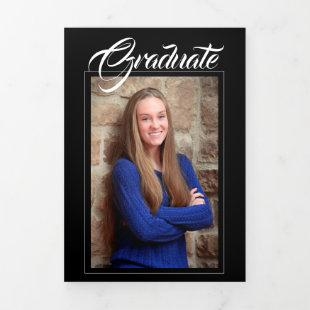 Classy Photo Graduation Announcement