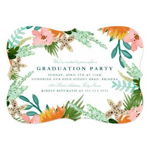 Coastline Graduation Party Invite