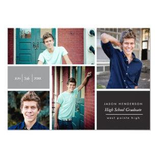 Color Block Photo Grad Announcement