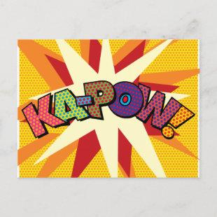 Comic Book Pop Art KA-POW Announcement Postcard