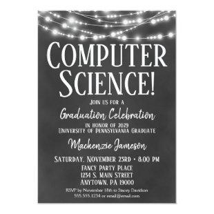 Computer Science Graduation Party Invitation