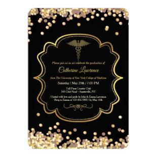 Confetti Medical Graduation Invitation