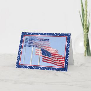 Congratulations Marine Graduate Card with Flags