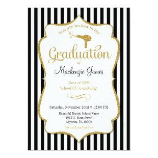 Cosmetology Graduation Announcement Invitation