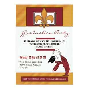 Country Crawfish Graduation Party Invitation