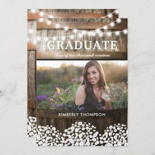 Country Rustic Photo 2021 Graduation Party Invitation