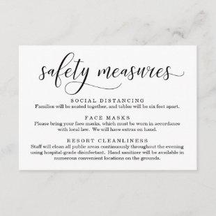 Covid 19 Safety Mask Social Distancing Information Enclosure Card