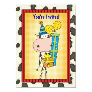 Cow & Gifts - Graduation Party Invitation