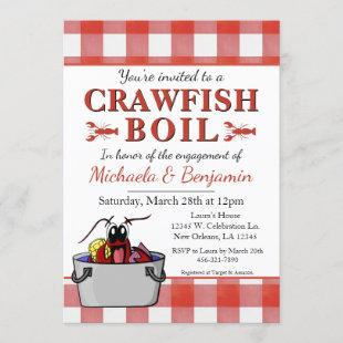 Crawfish Boil Lobster Barbecue Engagement Party Invitation