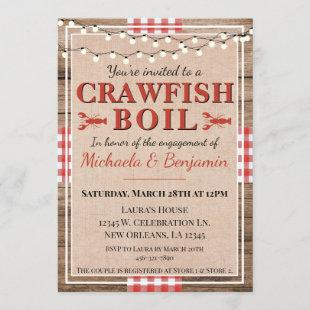 Crawfish Boil Lobster Party Engagement Invitation