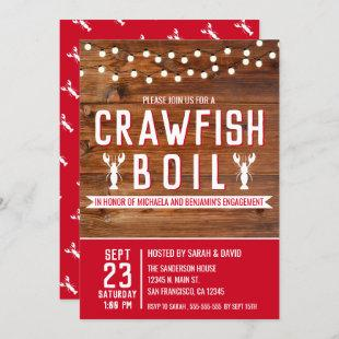 Crawfish Boil Special Event Engagement Party Invitation