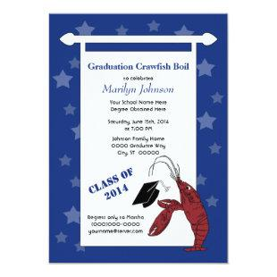 Crawfish / Lobster Stars Graduation Invitation