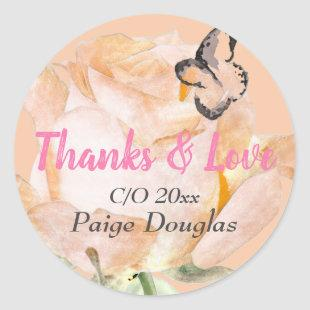 Creamsicle and Pink Garden Roses Stickers