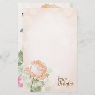 Creamsicle Roses Personal Stationary
