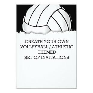 Create a Volleyball Themed Invitation