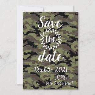 Create Your Own CAMO Save The Date Card