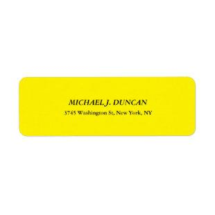 Creative Bright Yellow Classical Italic Cute Sheet Label