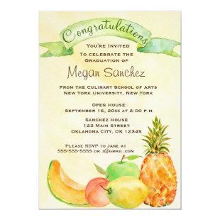 Culinary School Graduation Invitation