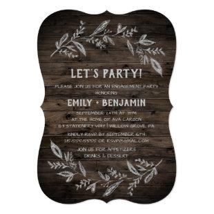 Curved Branches | Wooden Let's Party Invitation