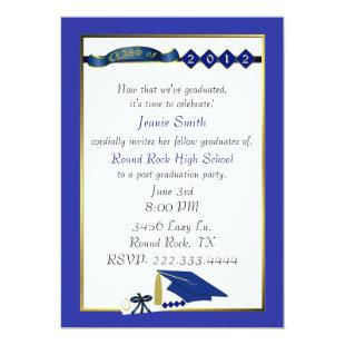Custom Blue Graduation Party Invitation