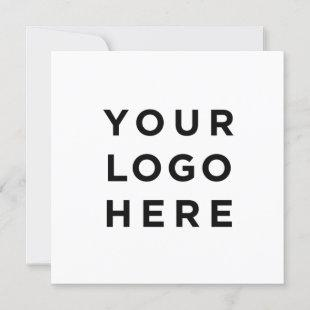 Custom logo and text modern square  card