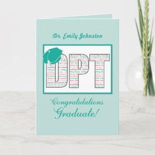 Custom Name Doctor Physical Therapy Graduation DPT Card