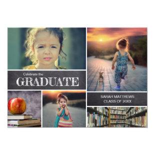 Custom Party Photo Kindergarten Graduation Invitation