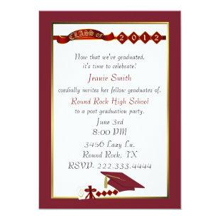 Custom Red Graduation Party Invitation