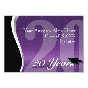 Customizable 20 Year Class Reunion Invitation