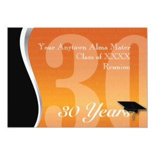 Customizable 30 Year Class Reunion Invitation
