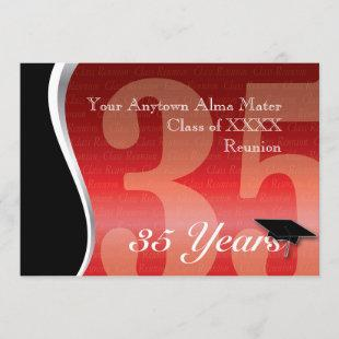 Customizable 35 Year Class Reunion Invitation