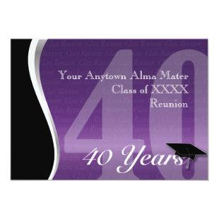 Customizable 40 Year Class Reunion Invitation