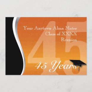 Customizable 45 Year Class Reunion Invitation