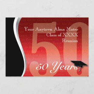 Customizable 50 Year Class Reunion Invitation