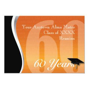 Customizable 60 Year Class Reunion Invitation