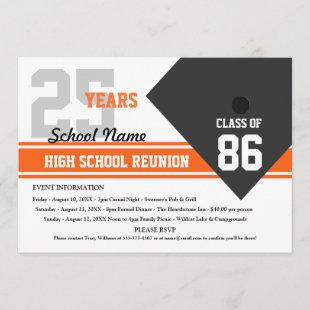 Customizable High School Class Reunion Invitation