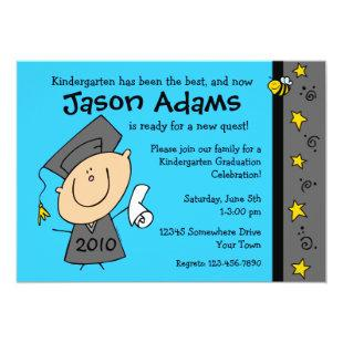 Cute Boy Custom Graduation Invitations