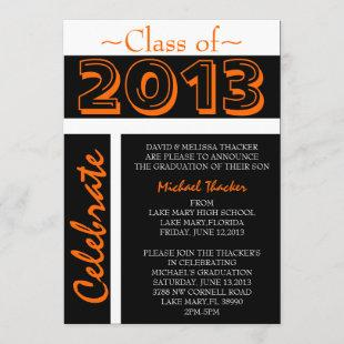 Cute Elegant Graduation Annoucement/Invitation Invitation