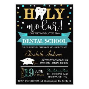 Dental Graduation Invitation - Chalkboard