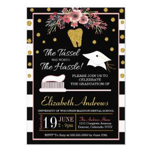 Dental School Graduation Invitation - Floral