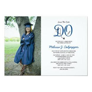 DO Doctor of Osteopathic Medicine graduation Invitation
