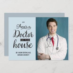 Doctor in House Medical Graduation Announcement