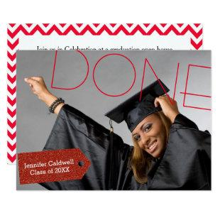 Done Photo - 3x5 Graduation Party Invitation