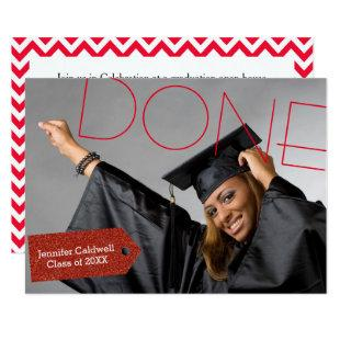 Done Photo - Graduation Party Invitation