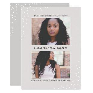 Doubly Dotted Graduation Announcement