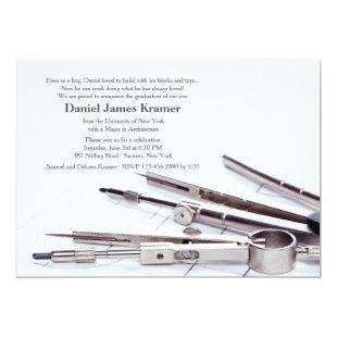 Drafting Tools Graduation Invitation