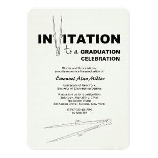 Drawing Compass Graduation Invitation