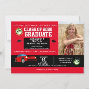 Drive By Party, 2020 Red Graduation Announcements