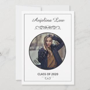 Editable Graduation Announcement and Invitation