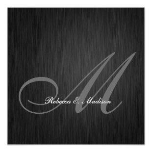 Elegant Black Monogram 2013 Graduation Invitation